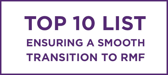 Top 10 List Ensuring a Smooth Transition to RMF Training