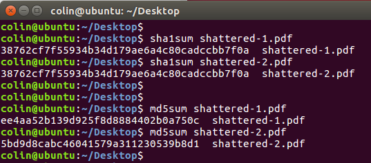 SHAttered Hashes