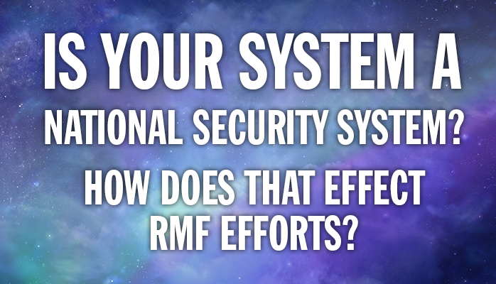 RMF and National Security Systems