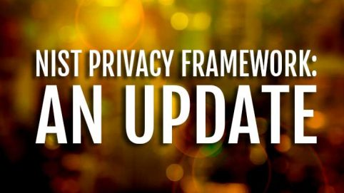 NIST Training. Privacy Framework Update