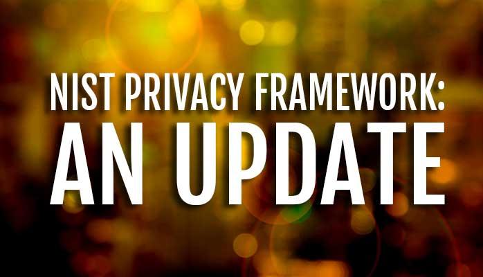 NIST Training. Privacy Framework Update